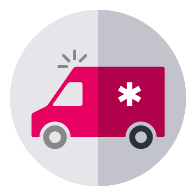 Icoon Ambulancechauffeur